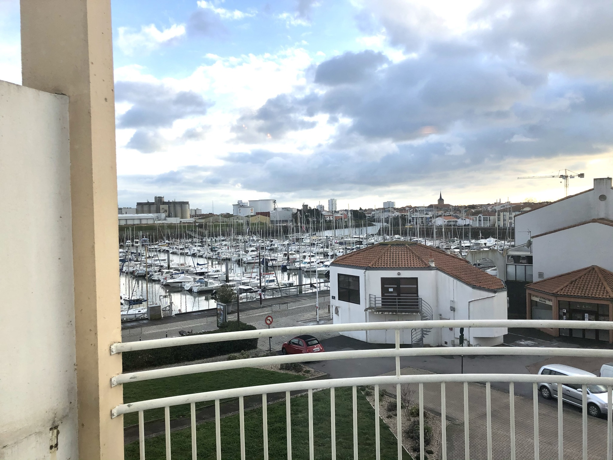 Der Blick auf Port Olonna aus unserem Appartement