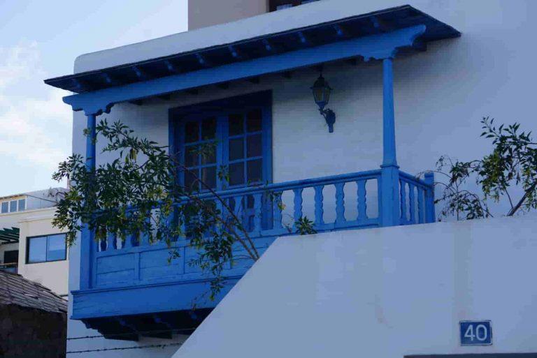 Ein Balkon in der Altstadt von Arrecife