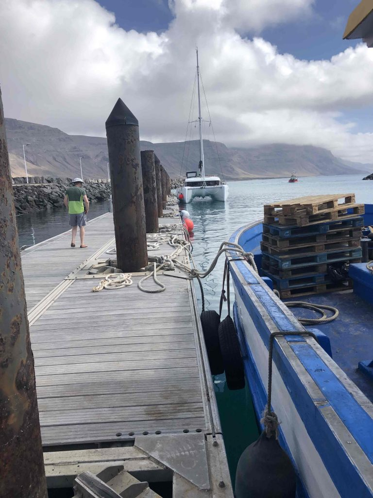Unser Steg im Hafen von Caleta del Sebo