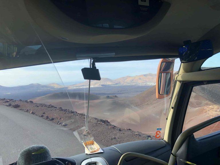 Busfahrt durch den Timanfaya Nationalpark