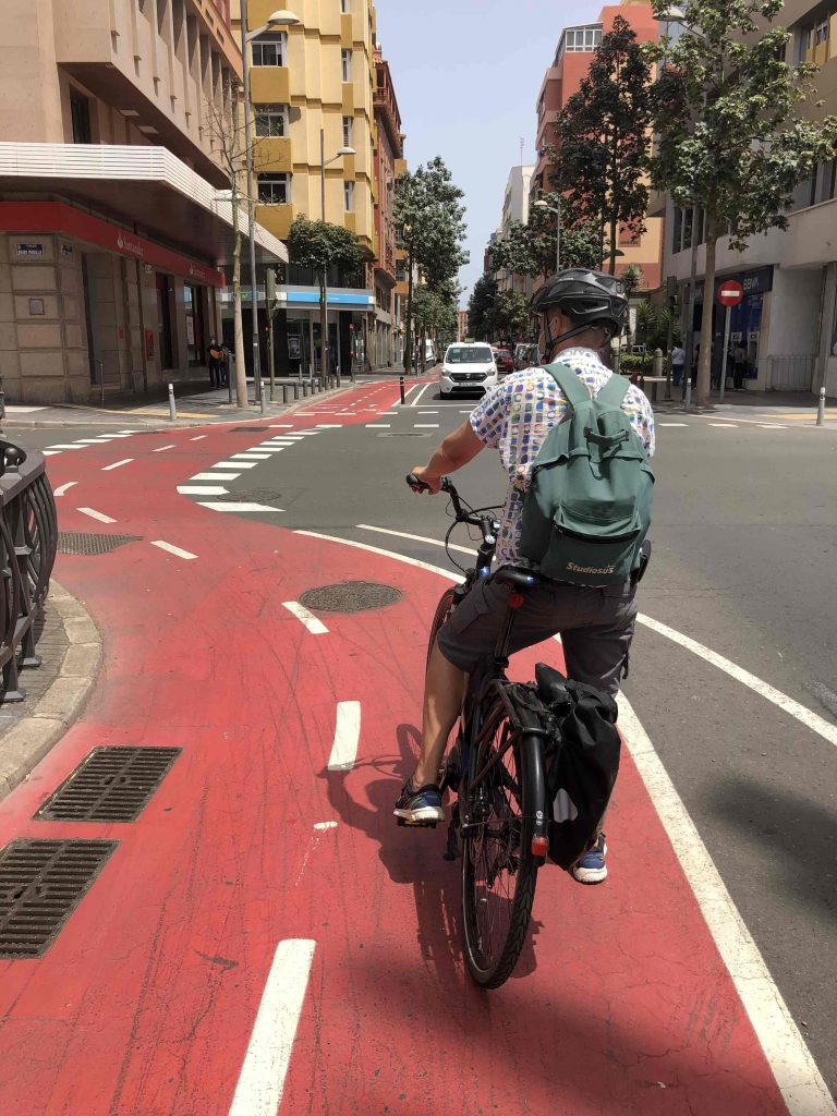 Unser täglicher Fahrradweg zur Sprachschule, den wir mit jeder Menge E-Skootern geteilt haben